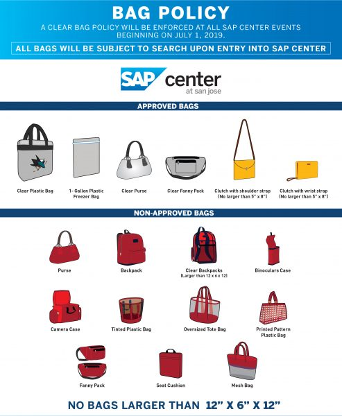 SAP Center Clear Bag Policy