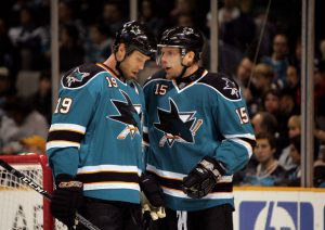 Joe Thornton and Dany Heatley
