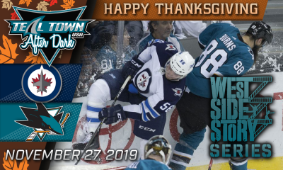San Jose Sharks vs Winnipeg Jets 11-27-19