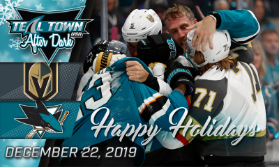 San Jose Sharks vs Vegas Golden Knights 12-22-19