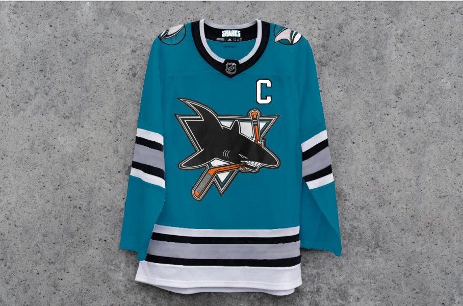 Sharks mock jersey teal