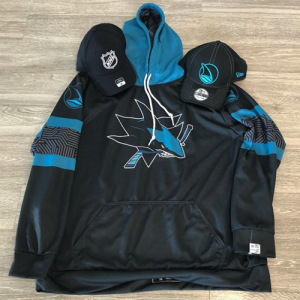 San Jose Sharks Stealth hoodie and cap