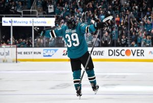 San Jose Sharks bobblehead - Logan Couture jesus pose