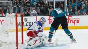Tomas Hertl - San Jose Sharks - 4 goals vs NY Rangers