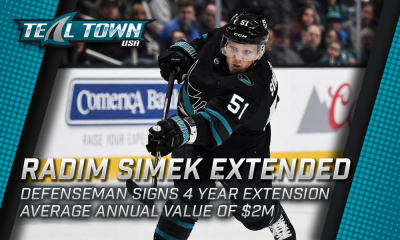 Radim Simek Signs Extension with San Jose Sharks