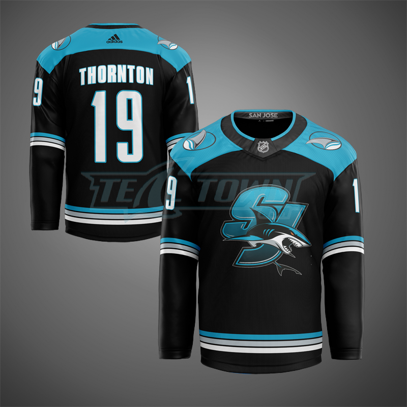 San Jose Sharks alternate warm-up jersey AJ
