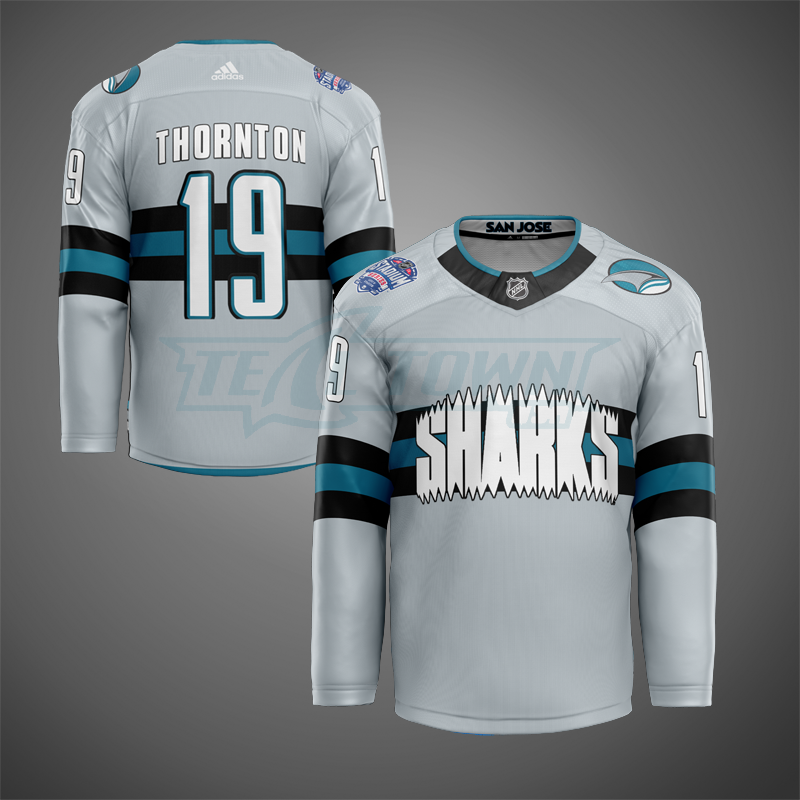 San Jose Sharks stadium warm-up jersey AJ
