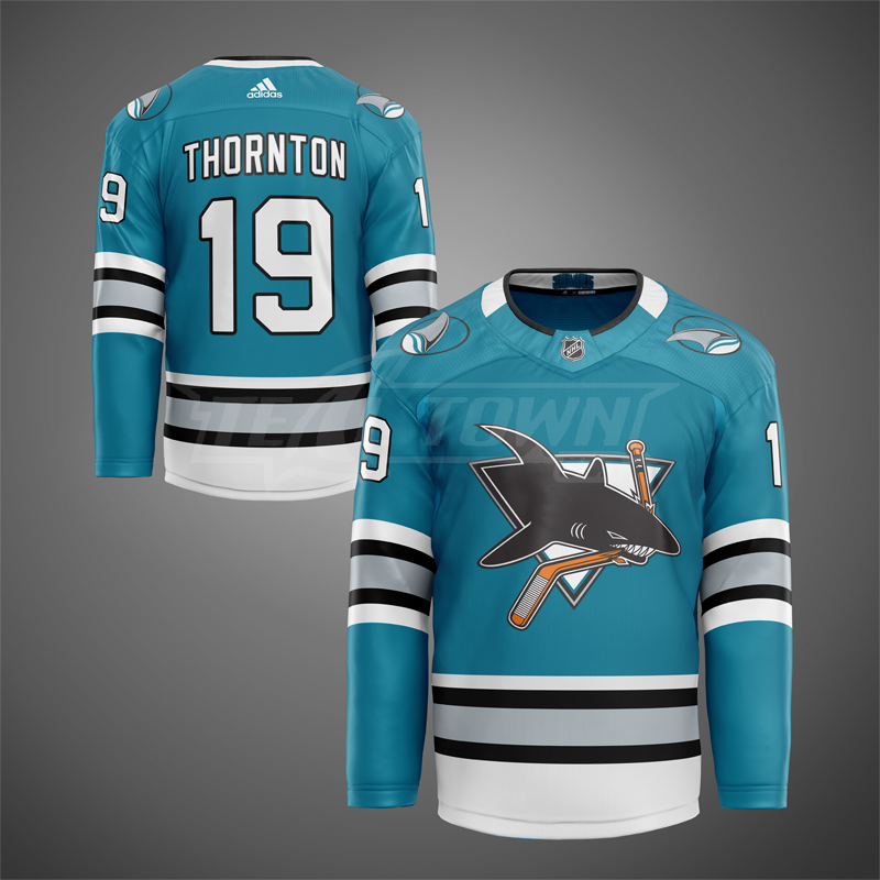 1st generation San Jose Sharks jersey mock - home