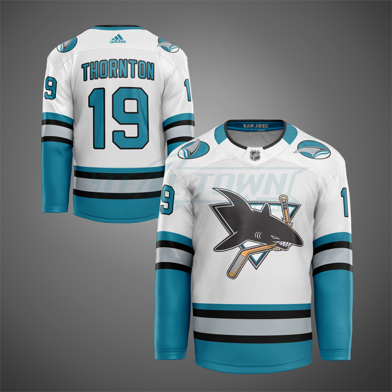 1st generation San Jose Sharks jersey mock - road