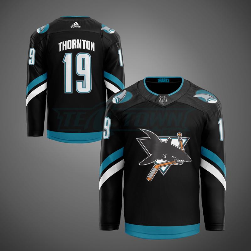 San Jose Sharks alternate jersey - 2nd generation