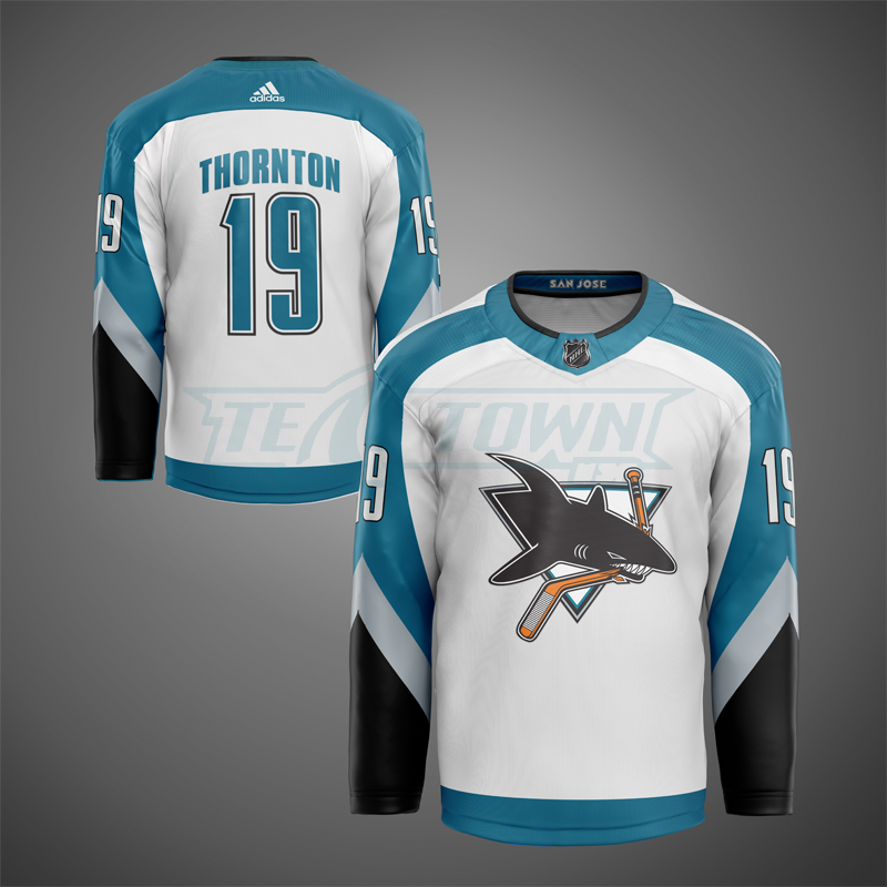 2nd generation San Jose Sharks jersey mock - road