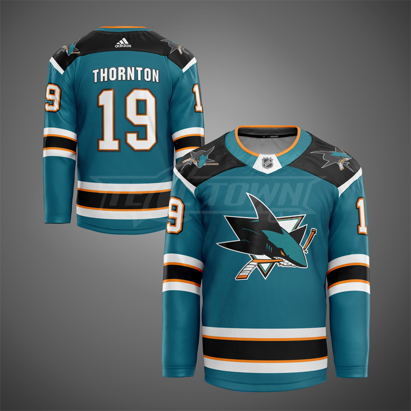 3rd generation San Jose Sharks jersey mock - home