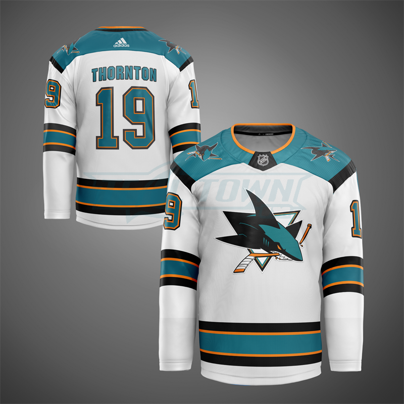 3rd generation San Jose Sharks jersey mock - away