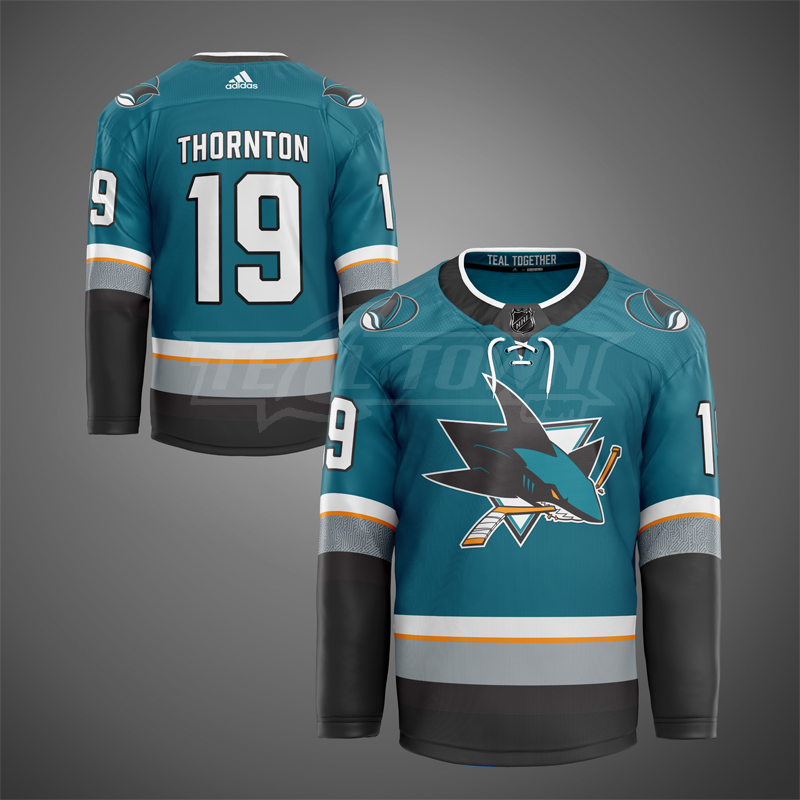 San Jose Sharks home warm-up jersey EK