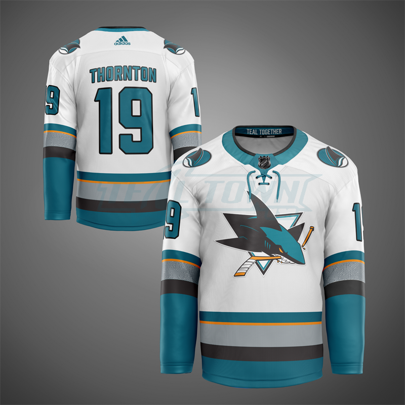 San Jose Sharks road warm-up jersey EK