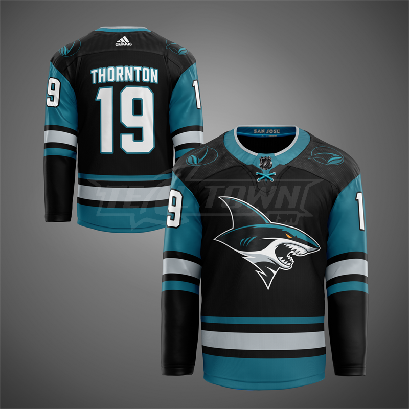 San Jose Sharks alternate warm-up jersey EK