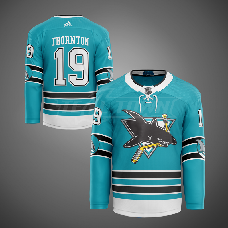 San Jose Sharks classic warm-up jersey EK