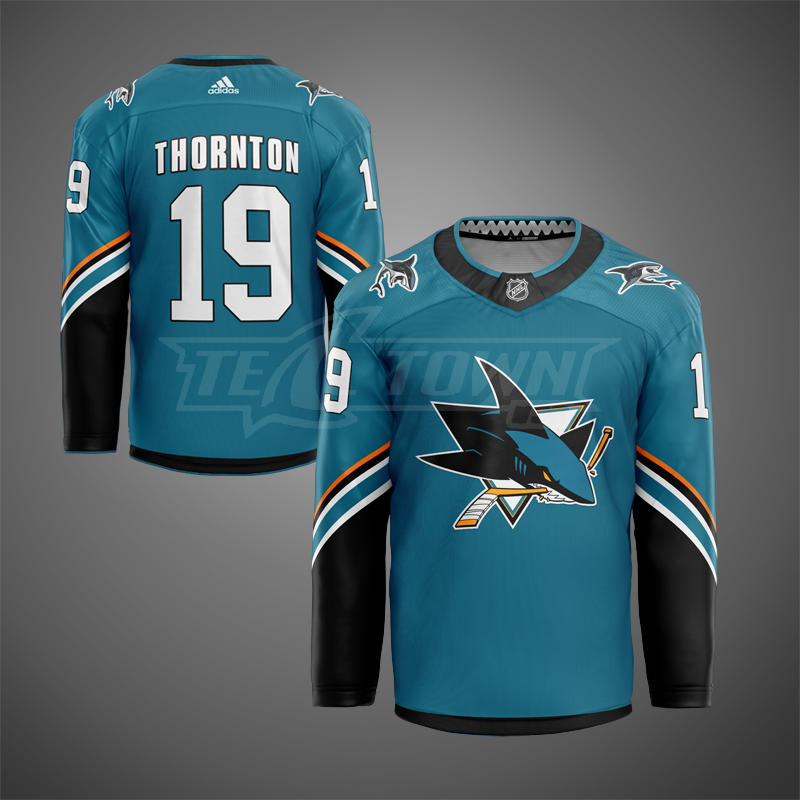San Jose Sharks road warm-up jersey AJ