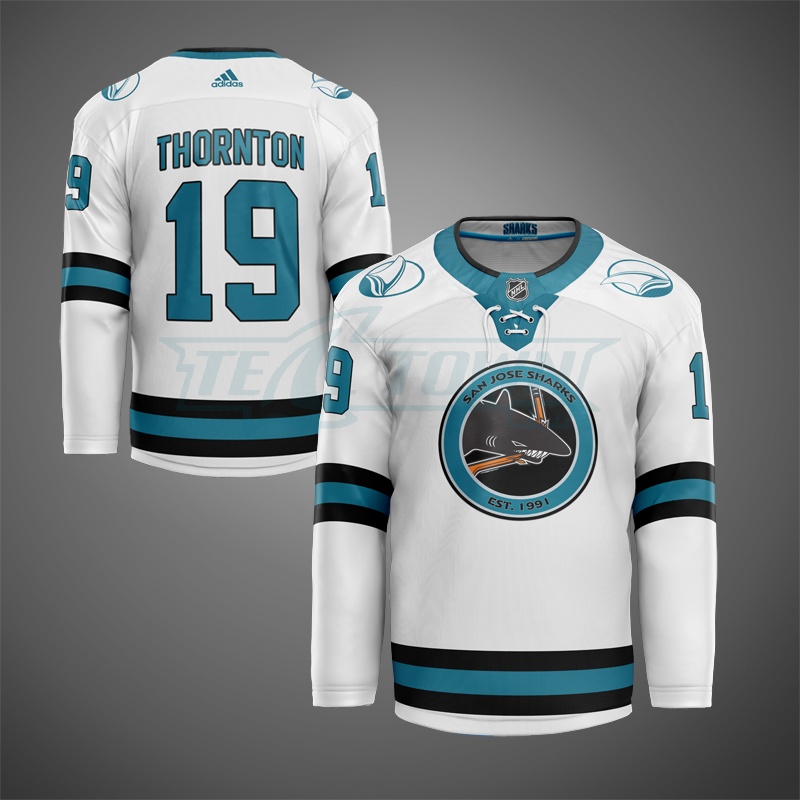 San Jose Sharks classic warm-up jersey AJ