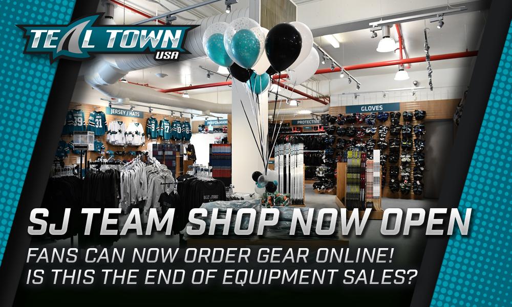 San Jose Sharks Team Shop Now Open