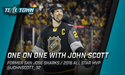 One on One with John Scott - San Jose Sharks / NHL All Star MVP
