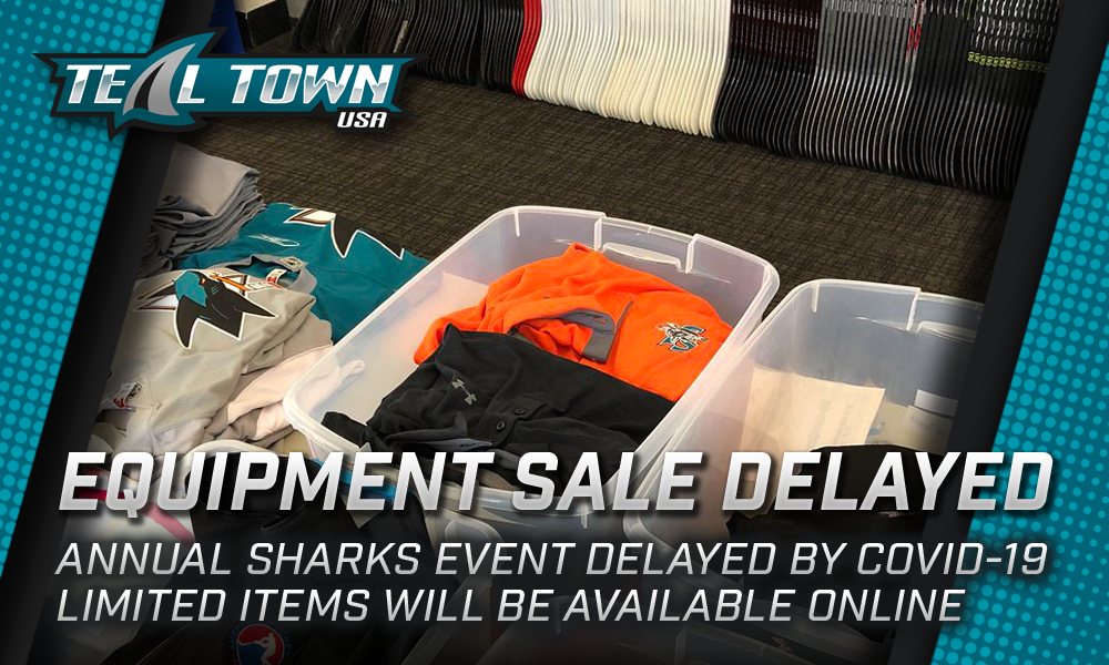 San Jose Sharks and Barracuda Equipment Sale Delayed