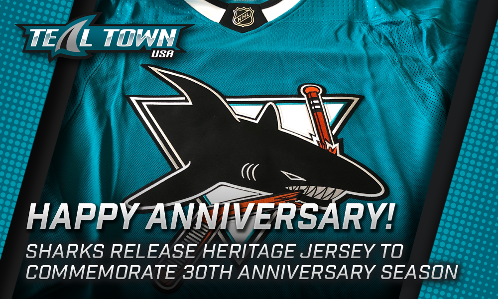 Sharks Release 30th Anniversary Jersey